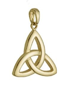 14k Gold Large Trinity Knot Irish Charm