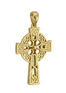 14k Gold Medium Celtic Cross Irish Charm
