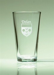 Irish Coat of Arms Pint Glasses Set of 4