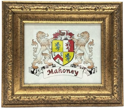 Irish Coat of Arms Plaque Antique Gold Finish