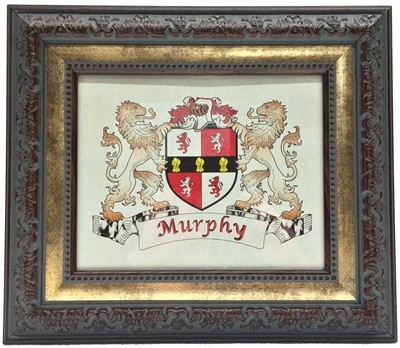 Irish Coat of Arms Plaque Antique Finish