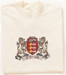 Irish Coat of Arms Crest Tee Shirt Natural