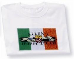 Irish Coat of Arms Pub Tee Shirt White