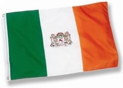 Irish Coat of Arms Flag 3' x 5'