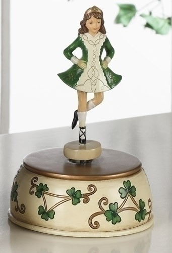 Irish Step Dancer Music Box