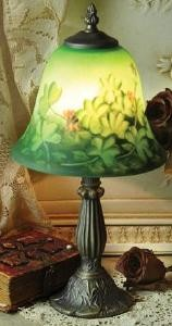 Multi Colored Handpainted  Irish Shamrocks  Lamp