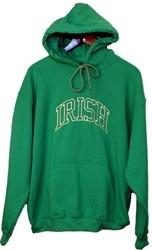 Irish Hooded Kelly Green Sweatshirt Irish Arc