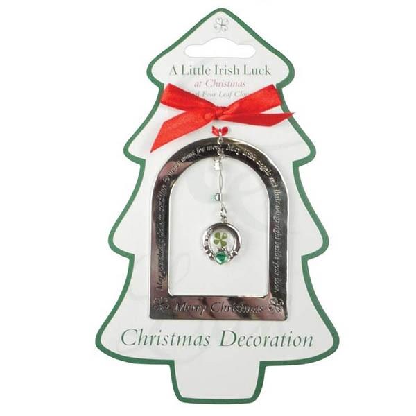 A Little Irish Luck Claddagh Christmas Ornament