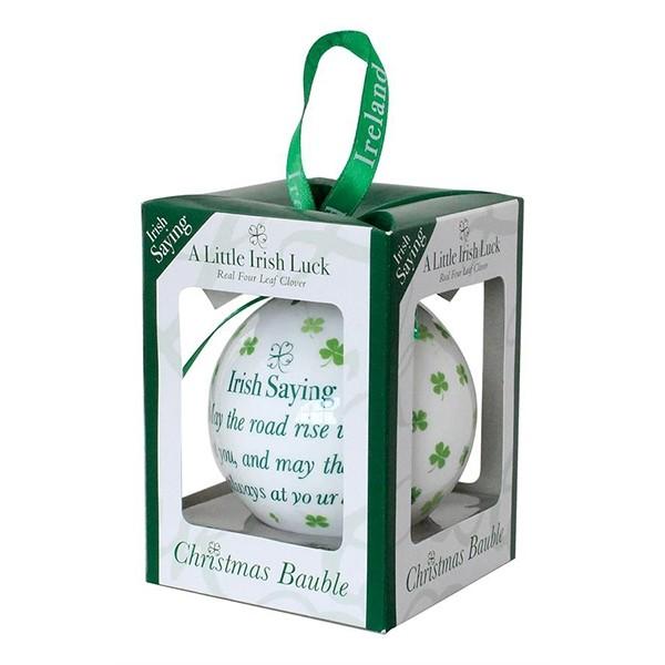 An Irish Saying Bauble Christmas Ornament