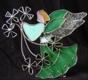 Angel and Shamrocks Irish Votive
