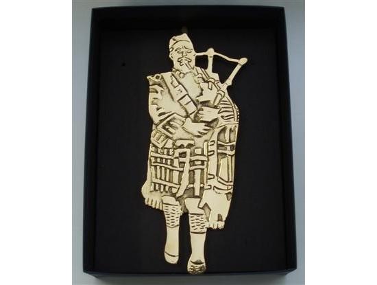 Scottish Bagpiper Door Knocker