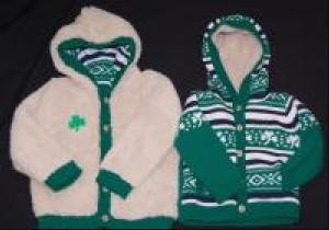 Irish Shamrock Infants Reversable Jacket