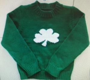 Green and white Infant Sweater