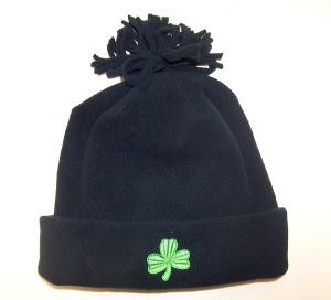 Irish Shamrock Youth Fleece Cap with Shamrock