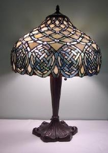 Multi Colored Irish Celtic Tiffany Lamp