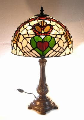 Multi Colored Irish Claddagh Tiffany Lamp