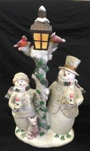 Timberland Snowmen LED Lamp Post