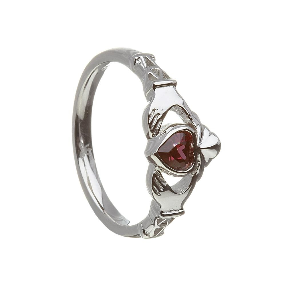 June-Alexandrite Birthstone Claddagh Ring