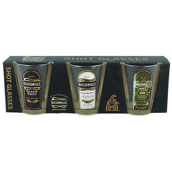 Bushmills Irish Shot Glasses 3 Pack