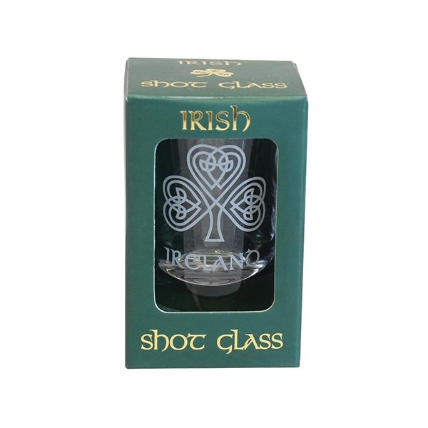 Celtic Shamrock Irish Shot Glass