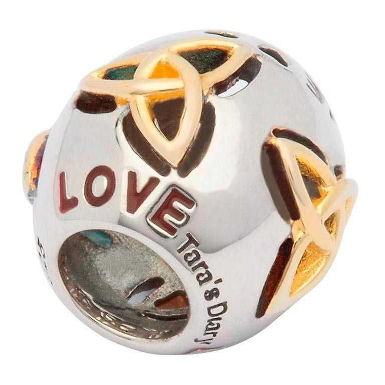 Celtic Two Tone Love Irish Charm Bead