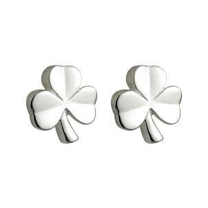 Childrens Irish Shamrock Earrings Sterling Silver