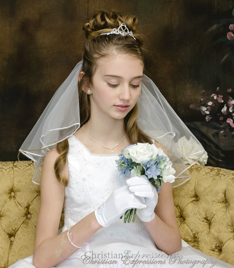 irish claddagh celtic  bridal or first communion tiara headpiece