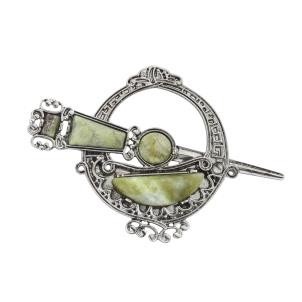 Connemara Marble Celtic Sword Tara Brooch