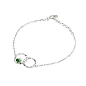 Crystal Irish Claddagh Sterling Silver Circle Bracelet