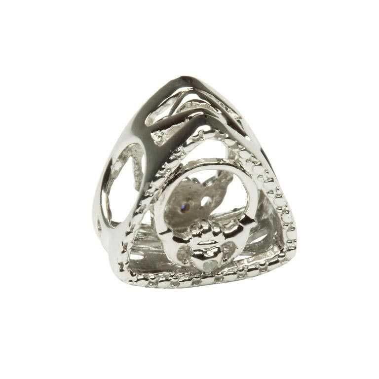 Diamond Claddagh Triangle Irish Charm