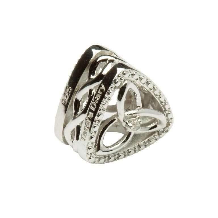 Diamond Set Trinity Knot Triangle Irish Charm