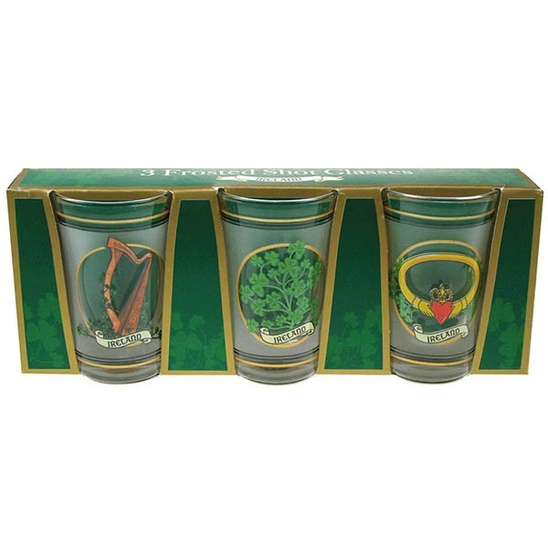 Frosted Irish Shot Glasses 3 Pack