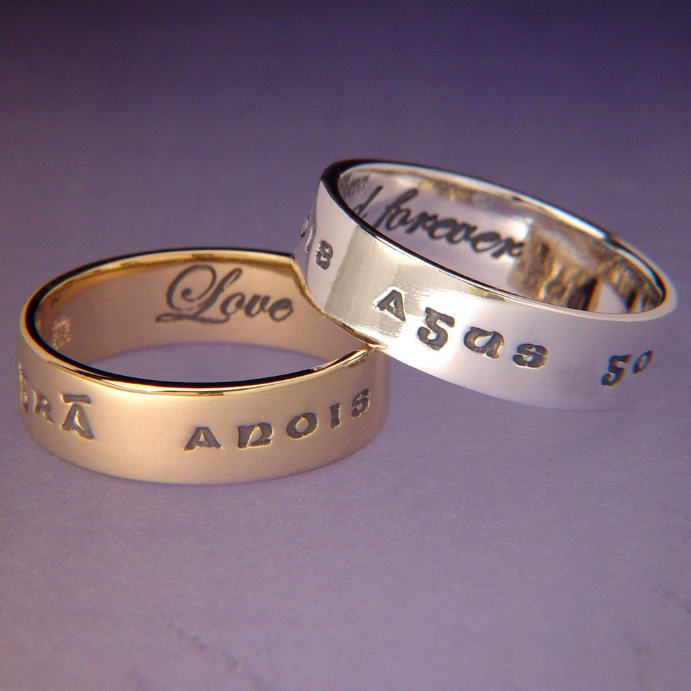Gaelic Love and Forever Irish Ring