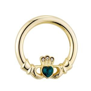 Claddagh Brooch With Stones