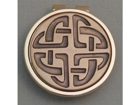 Gold Irish Celtic Knot  Money Clip