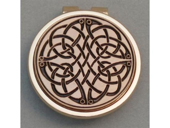 Gold Irish Celtic Swirl Money Clip