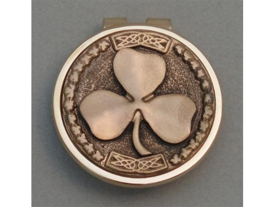 Gold Irish Shamrock Money Clip