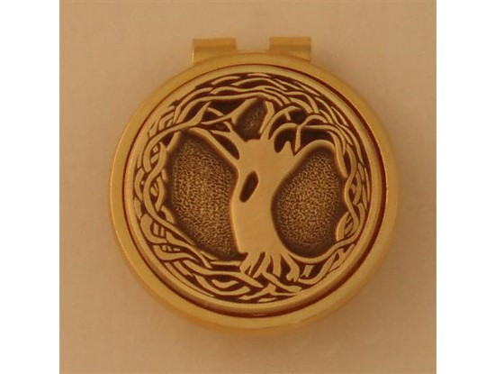 Gold Irish Tree of Life Money Clip