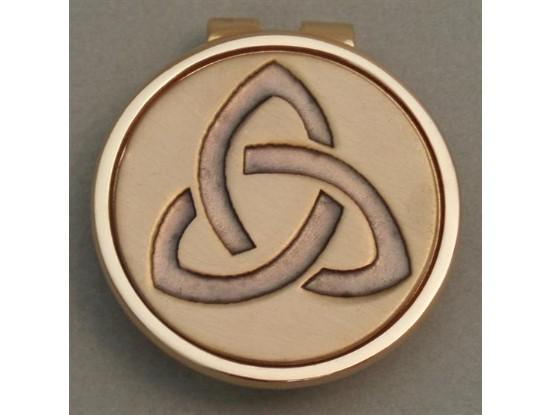 Gold Irish Trinity Knot Money Clip