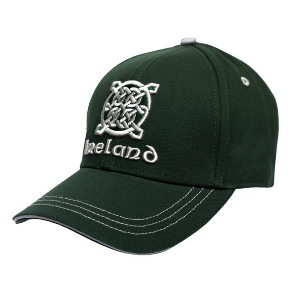 Green Ireland Celtic Knot Irish Baseball Cap