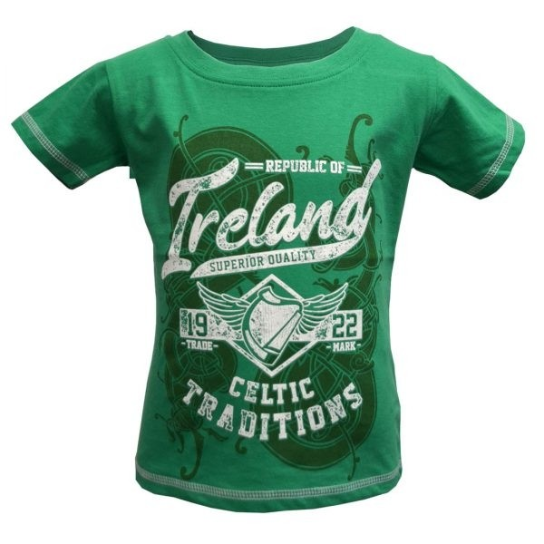 Green Ireland Celtic Traditions Kids Irish T-Shirt