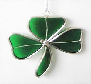 Green Shamrock Irish Suncatcher