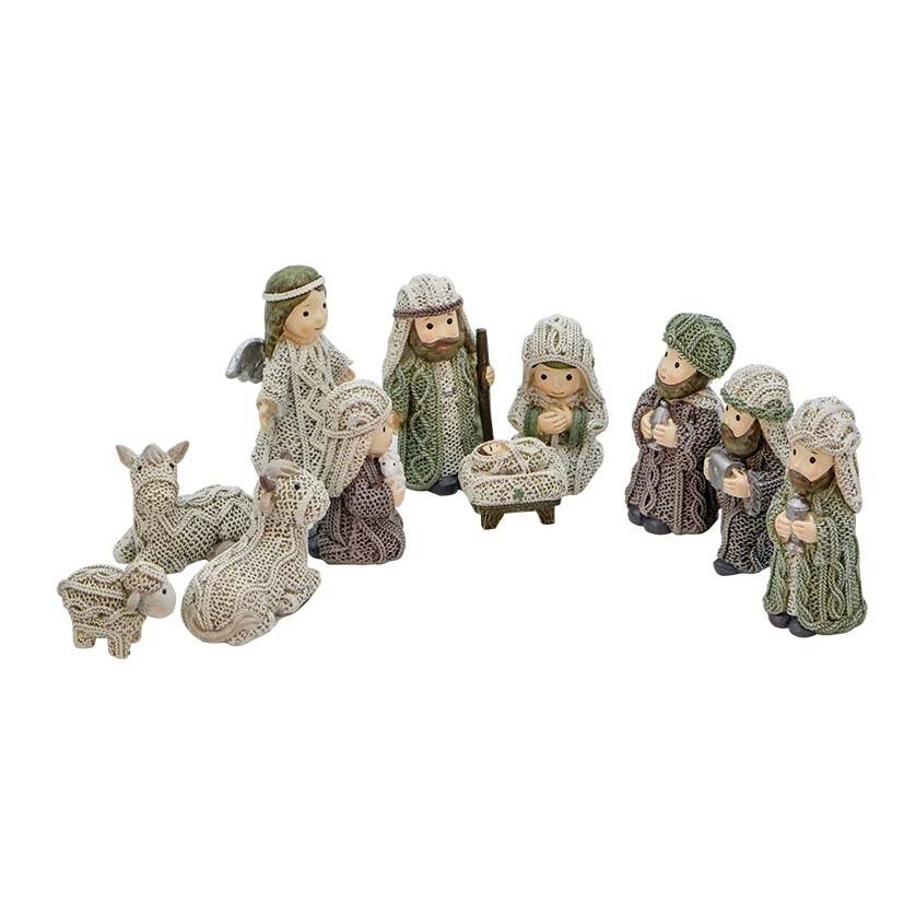 Aran Irish Nativity Set 11 Pieces