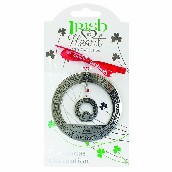 Irish at Heart Claddagh Christmas Ornament