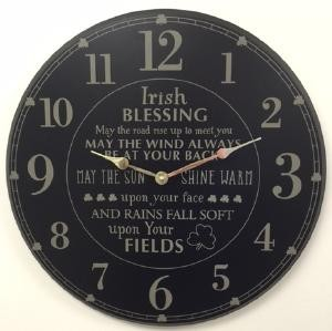 Irish Blessing Wooden Wall Clock