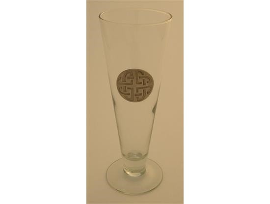 Irish Celtic Knot  Pilsner 16 oz. Footed Beer Glass