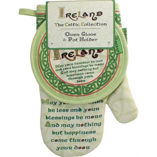 Irish Celtic Oven Glove and Pot Holder