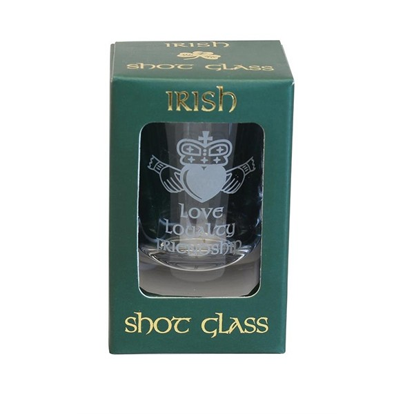 Irish Claddagh Shot Glass