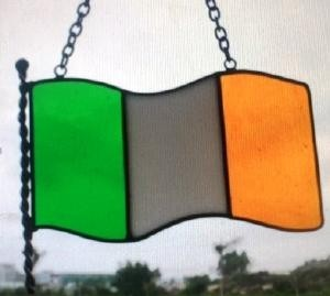 Irish Flag Suncatcher
