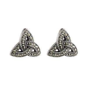 Irish Marcasite Trinity Knot Earrings